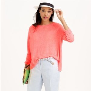 J. Crew Linen Crew Neck Sweater